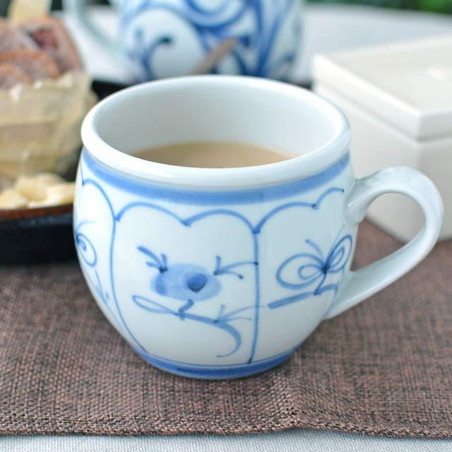 和食器・砥部焼 なずなの丸ミルクカップ