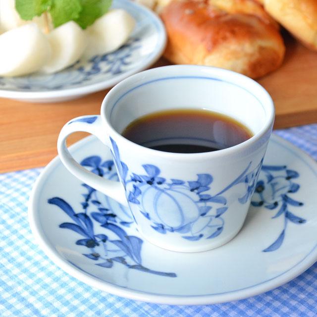 和食器・砥部焼 風船花のコーヒーカップ
