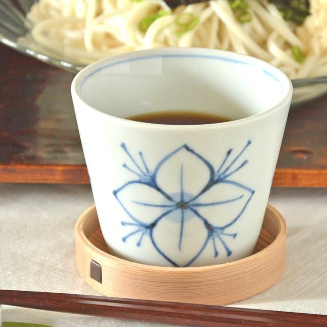 和食器・砥部焼 花文のそばちょこ