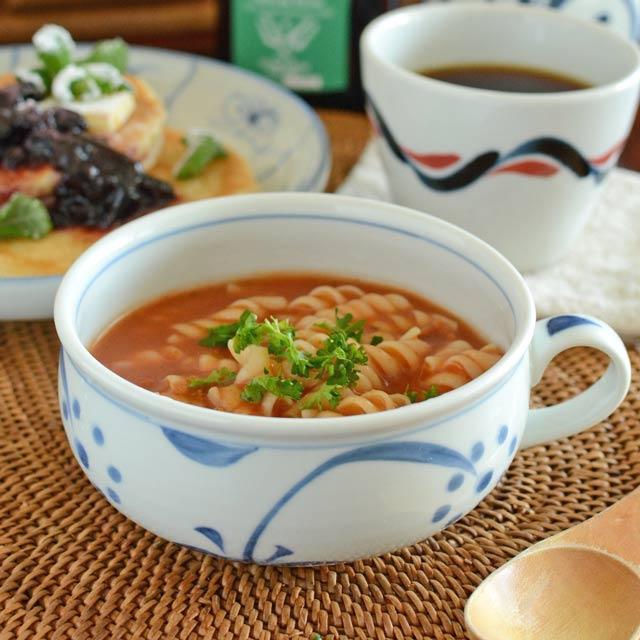 和食器・砥部焼 太陽柄のふっくらスープカップ