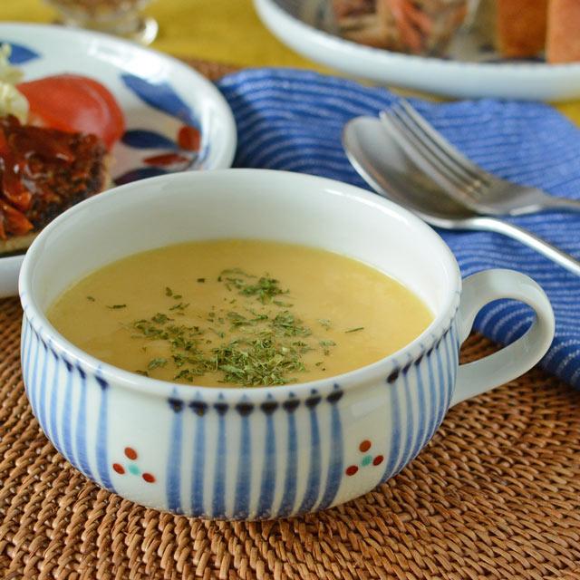 和食器・砥部焼 とくさみつ紋のふっくらスープカップ