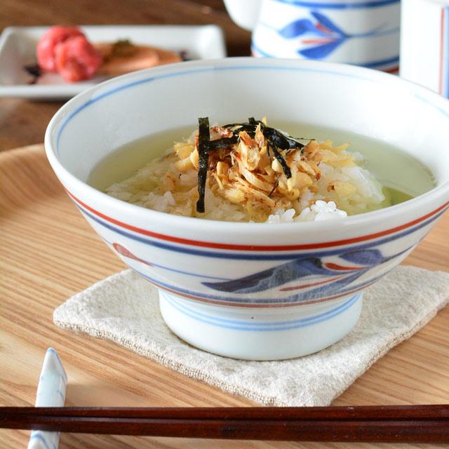 和食器・砥部焼 みつ葉の茶漬け碗