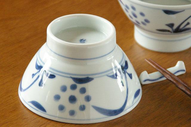 【砥部焼 梅山窯】太陽柄の茶碗(大)
