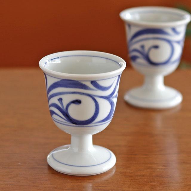 和食器・砥部焼 梅山窯のワインカップ
