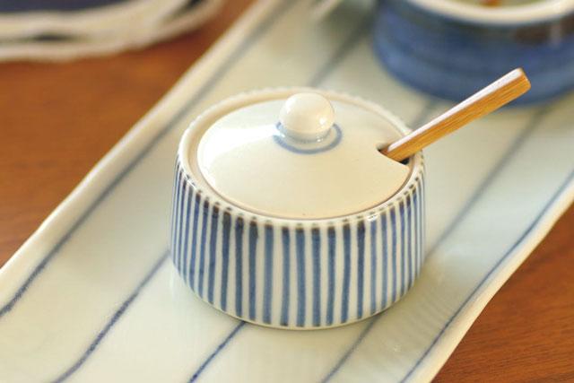 和食器・砥部焼 とくさ柄の薬味入れ