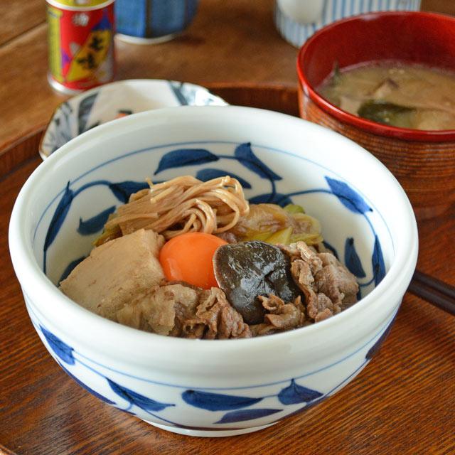 和食器・砥部焼 唐草の玉口鉢(5寸)