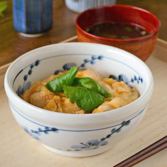 和食器・砥部焼 梅の玉口鉢(5寸)