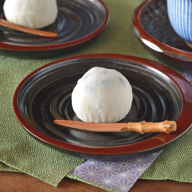 香川漆器 三日月朱の銘々皿