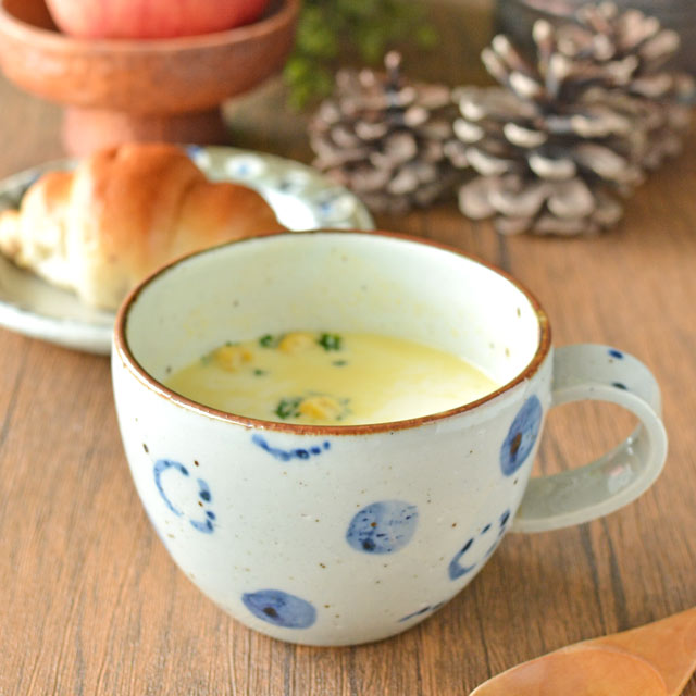 和食器・砥部焼 森陶房のスープマグ
