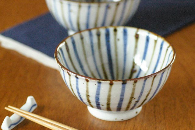 【砥部焼 森陶房】麦わらの茶碗(大)