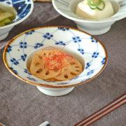 和食器・砥部焼 梅の縁付鉢(4寸)