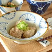 和食器・砥部焼 菊文の縁付鉢(5寸)