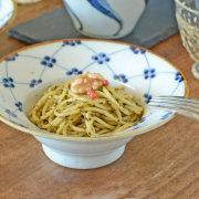 和食器・砥部焼 梅の縁付鉢(5寸)