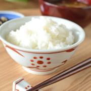和食器・砥部焼 赤太陽の反茶碗(3.6寸)