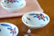 【砥部焼 梅山窯】つるんとまあるい豆小皿(ごす赤菊)