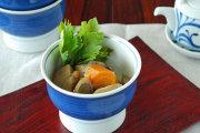 和食器・砥部焼 藍色の高台碗(4寸)