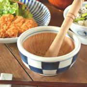 和食器・砥部焼 市松もようのすり小鉢