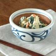 和食器・砥部焼 からくさのすり鉢(4寸)