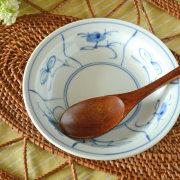 和食器・砥部焼 なずなの縁付深皿(5寸)