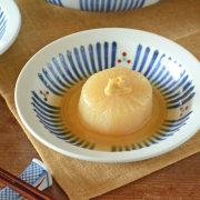 和食器・砥部焼 とくさみつ紋の縁付深皿(5寸)