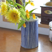 和食器・砥部焼 梅山窯の筒入れ(5寸)