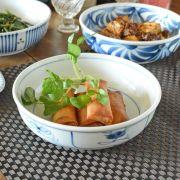 和食器・砥部焼 なずなの平鉢(6寸)