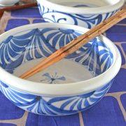 和食器・砥部焼 流れ菊の切立鉢(7寸)