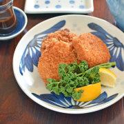 和食器・砥部焼 ごす菊の大皿(7寸)