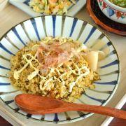 和食器・砥部焼 鉄ごす十草の丸皿(7寸)
