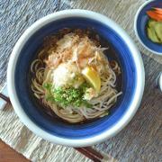 和食器・砥部焼 藍色の玉ぶち鉢(7寸)