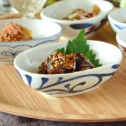 和食器・砥部焼 からくさの舟型小鉢