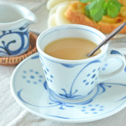 和食器・砥部焼 太陽柄のコーヒーカップ