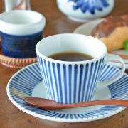 和食器・砥部焼 とくさ柄のコーヒーカップ