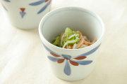 【砥部焼 梅山窯】ごす赤菊のそばちょこ