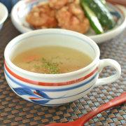 和食器・砥部焼 みつ葉のふっくらスープカップ