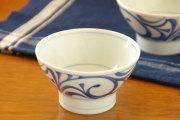 【砥部焼 梅山窯】からくさの茶碗(小)