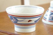 【砥部焼 梅山窯】みつ葉の茶碗(大)