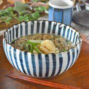 和食器・砥部焼 とくさの波口ボール(5寸)