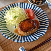 和食器・砥部焼 とくさの花皿(7寸)