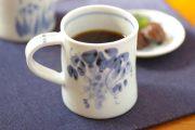 【砥部焼 森陶房】ぶどうのマグカップ