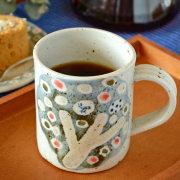 【砥部焼 森陶房】小さな森のマグカップ