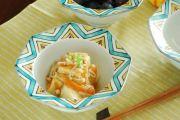 和食器・砥部焼 星柄の八角鉢