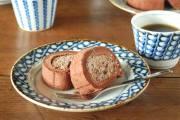和食器・砥部焼 すずらんのリム付皿(5寸)