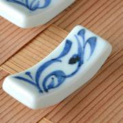 和食器・砥部焼 青唐草の箸置き