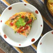 和食器・砥部焼 赤玉の取皿(5寸)