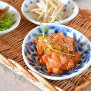 和食器・砥部焼 花市松の楕円小皿