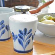 和食器・砥部焼 ブルーリーフのフリーカップ