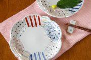 【砥部焼 陶房遊】彩り紋の花皿(6寸)