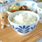 和食器・砥部焼 ブルーリーフの子供茶碗