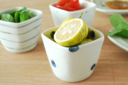 和食器・砥部焼 水玉もようの角フリーカップ